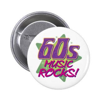 60s Music Rocks! 2 Inch Round Button
