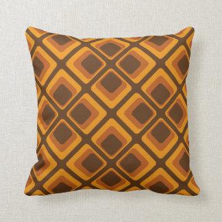 60's orange squares throw pillow