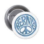 60s Peace Bernie 2 Inch Round Button