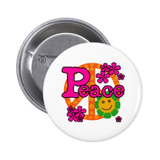 60s Style Peace 2 Inch Round Button