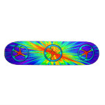 60s Style Peace Sign Skateboard