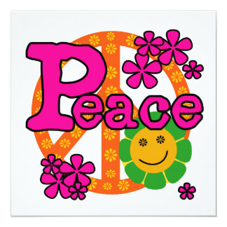 60s Style Peace T-shirts and Gifts Card
