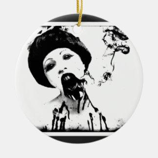 60s Zombie Round Ceramic Ornament