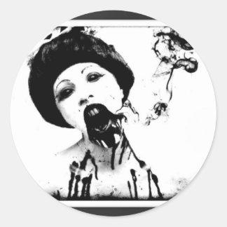 60s Zombie Round Sticker