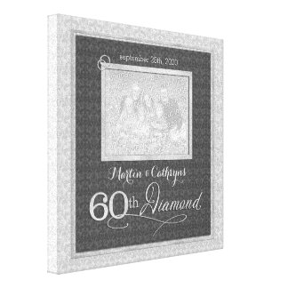 60th Anniversary - 11x11 Personalized Photo Canvas Print