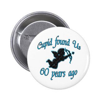 60th. Anniversary 2 Inch Round Button