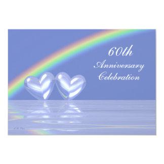 60th Anniversary Diamond Hearts Card