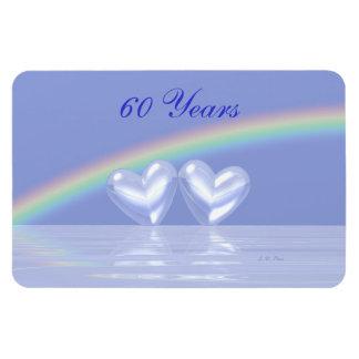 60th Anniversary Diamond Hearts Magnet