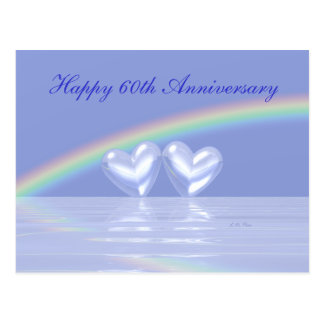 60th Anniversary Diamond Hearts Postcard