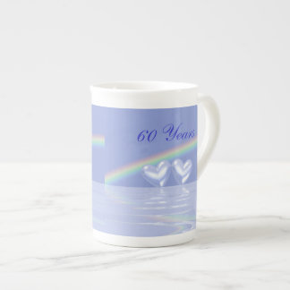 60th Anniversary Diamond Hearts Tea Cup