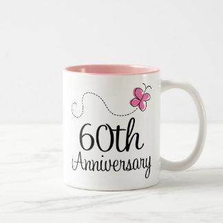 60th Anniversary Gift Two-Tone Coffee Mug