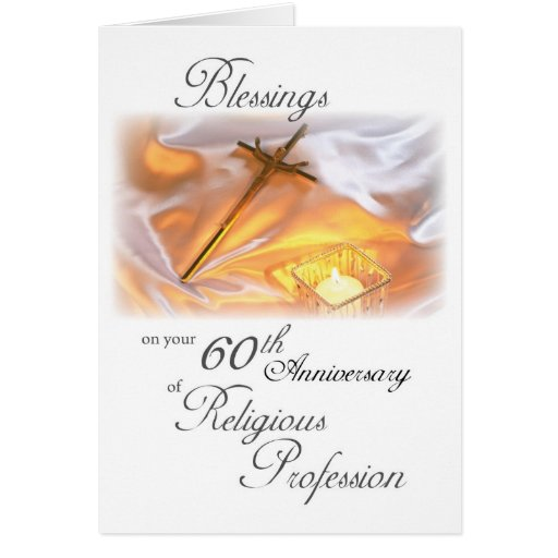 60th Anniversary of Religious Life, for a Nun Greeting Cards