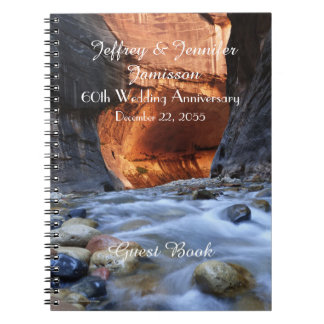 60th Anniversary Party Guest Book, Zion Narrows Notebooks