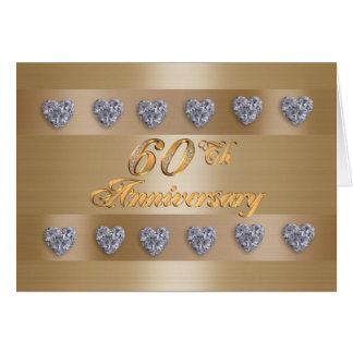 60th anniversary party invitation diamonds