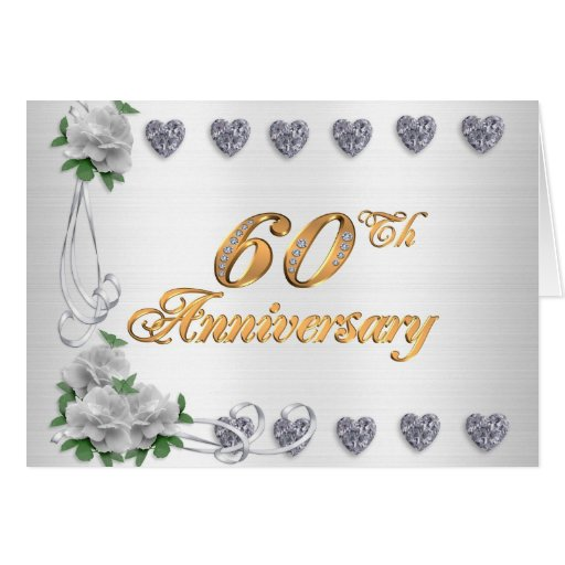 60th anniversary party invitation white satin card zazzle for Free printable 60th wedding anniversary invitations