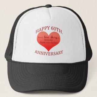 60th. Anniversary Trucker Hat