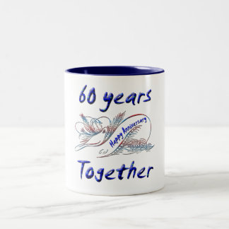 60th. Anniversary Two-Tone Coffee Mug
