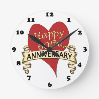 60th. Anniversary Wall Clock