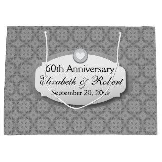 60th Anniversary Wedding Anniversary Diamond A29 Large Gift Bag