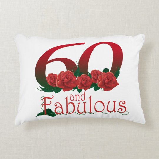"60th birthday Accent Pillow 16"" x 12"""