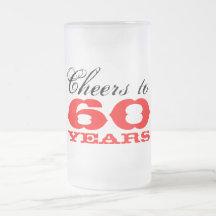 60th Birthday Beer Glass Gift for men Beer Mugs