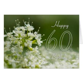 60th Birthday Card With Flower - Floral 60th Birth
