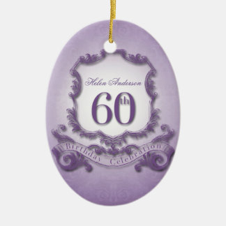 60th Birthday Celebration Personalized Ornament