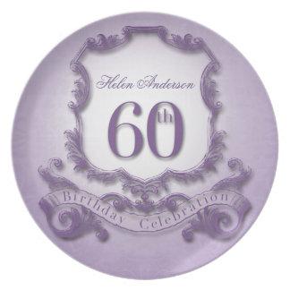 60th Birthday Celebration Personalized Plate