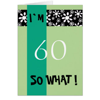 60th Birthday Funny Motivational Card