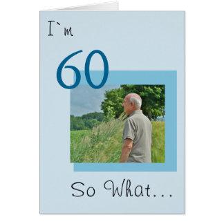 60th Birthday Funny Photo Card