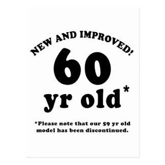 60th Birthday Gag Gifts Postcard