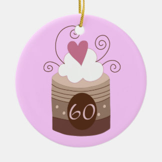60th Birthday Gift Ideas For Her Round Ceramic Ornament