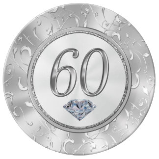 60th Birthday Gifts or 60th Anniversary Plate