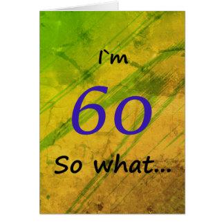 60th Birthday Green Funny Card