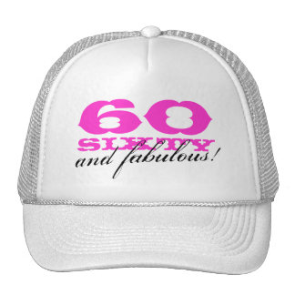 60th Birthday hat | 60 and fabulous!