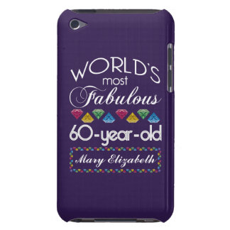 60th Birthday Most Fabulous Colorful Gems Purple Case-Mate iPod Touch Case
