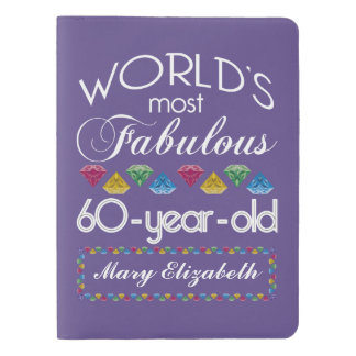 60th Birthday Most Fabulous Colorful Gems Purple Extra Large Moleskine Notebook