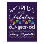 60th Birthday Most Fabulous Colourful Gems Purple