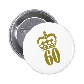 60th Birthday - Number – Sixty 2 Inch Round Button