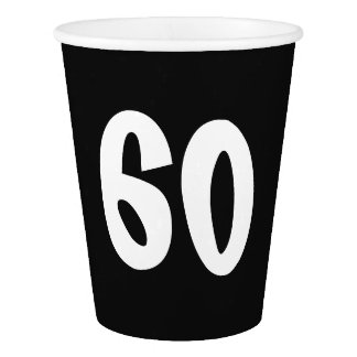 60th Birthday Paper Cup