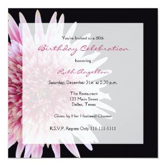 60th Birthday Party Invitation Gerbera Daisy