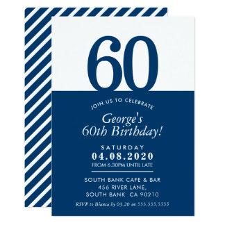 60TH BIRTHDAY PARTY INVITE modern minimal black