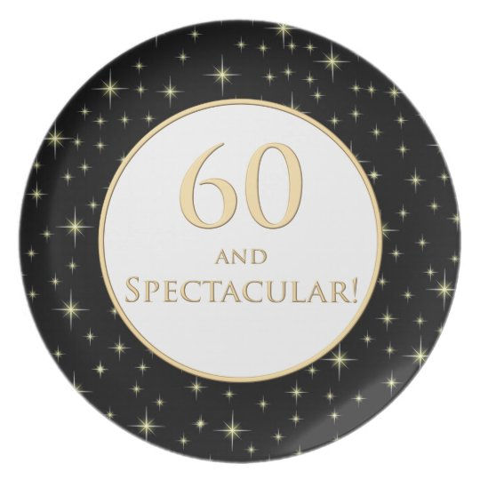 60th Birthday Plate
