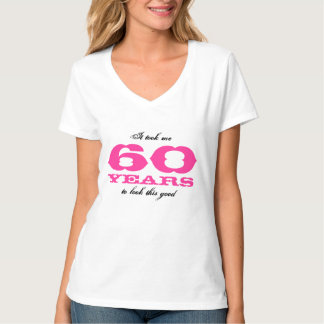 60th Birthday shirt for women   personalizable age