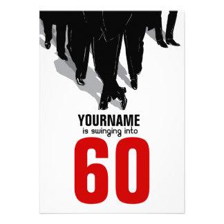 60th Birthday Swingers Rat Pack Party Custom Invitation