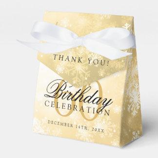 60th Birthday Thank You Gold Winter Wonderland Favor Box