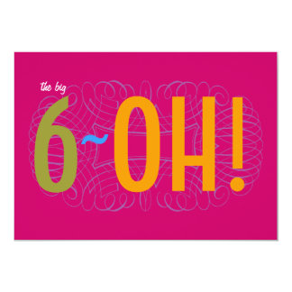 60th Birthday - the Big 6-OH! Card