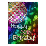 60th birthday with disco ball and rainbow of stars