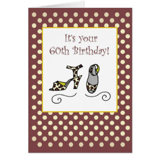 60th Birthday Women's Shoes Card