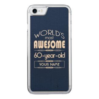 60th Birthday Worlds Best Fabulous Dark Blue Carved iPhone 8/7 Case